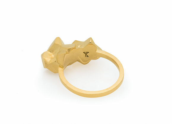CLUSTER gold unique ring