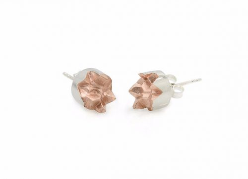 69 MINED x ROSE asymmetrical earrings