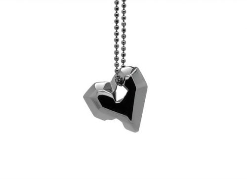 Full Heart Black Pendant