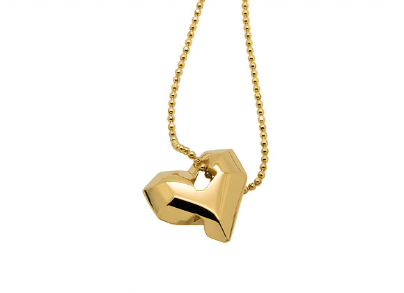 Full Heart Pendant Gold