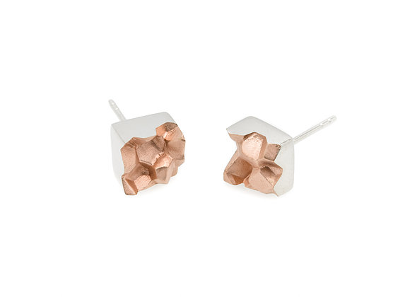 Fracture Mined Rose Earrings