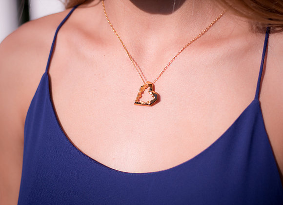 Open Heart Gold Pendant
