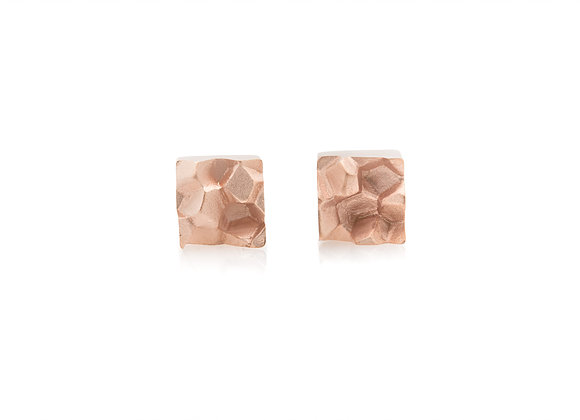 Fracture Rose Gold Vermeil 925 Silver Earrings
