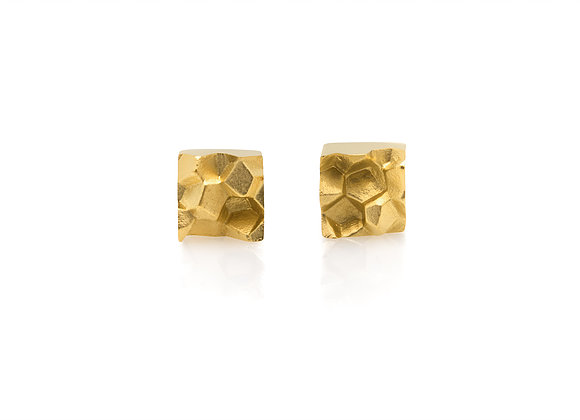 FRACTURE x GOLD geometric earrings