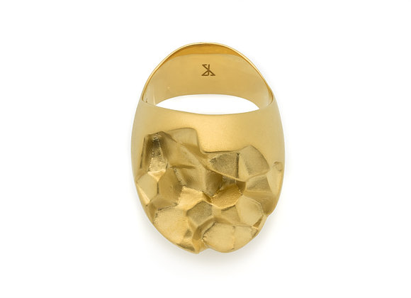 ROOK x GOLD ring front view