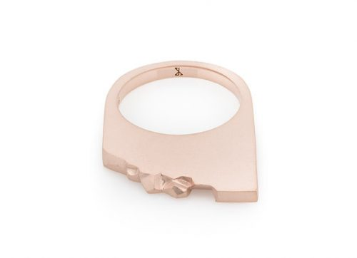 SHALE x ROSE gold vermeil ring