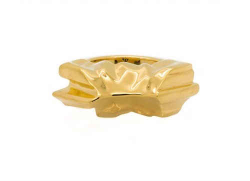 MAUNA x GOLD ring front view