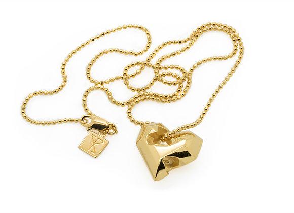 Full Heart Gold Pendant