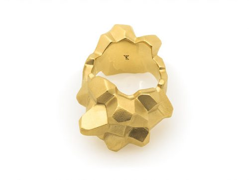NUGGET x GOLD ring front view