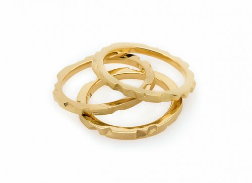 Tern x Gold high tech parametric rings