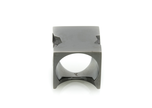 Cinder Black architectural ring