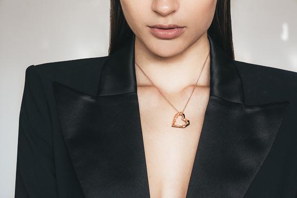 heart geometric pendant