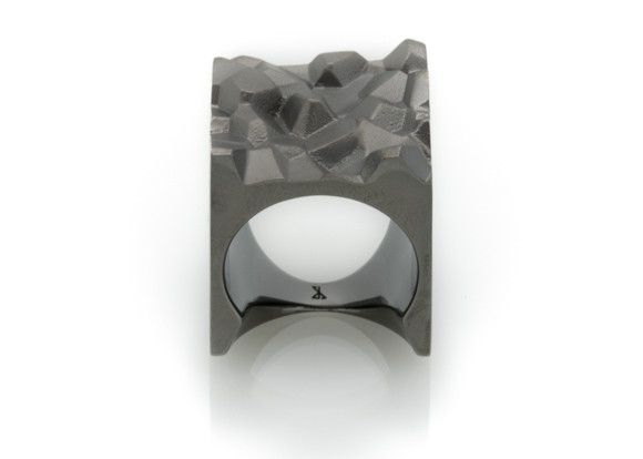Vault Black Rhodium Minimalist Ring